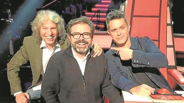 José Mercé, Juan Carlos Chaves y su representado, Alejandro Sanz