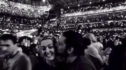 La pareja en el concierto de Bruce Springsteen