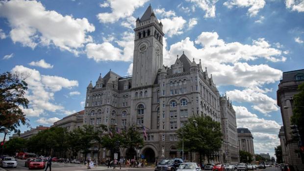 Vista exterior del nuevo hotel del magnate en Washington DC