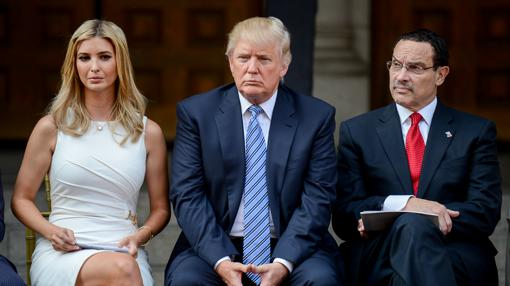 Donald Trump y su hija Ivanka en Washington