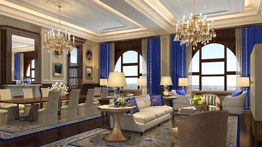 Vista de una de las salas de reuniones del nuevo hotel Trump