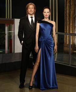 Las figuras de Brad y Angelina