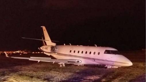El avión accidentado en Barcelona