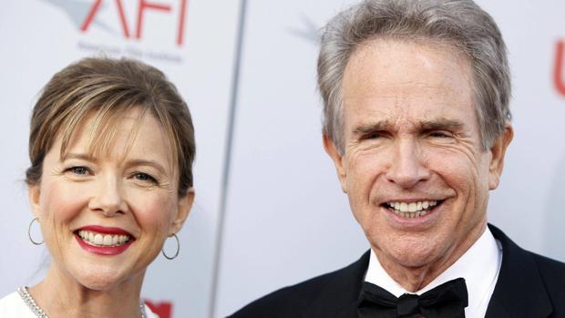 Annette Bening y Warren Beatty en el 2008