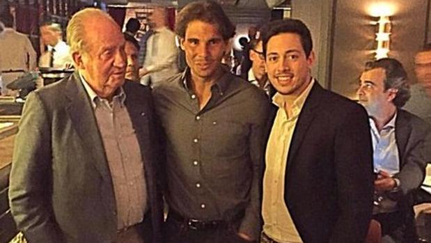 Rafael Nadal con Don Juan Carlos