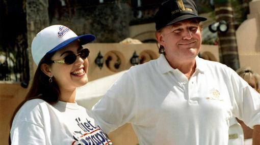 Machado y Donald Trump en Florida, en 1997