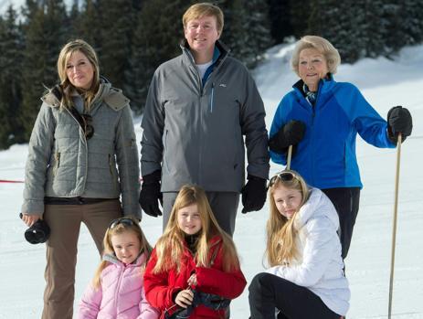 La familia real holandesa durante las vacaciones de navidad