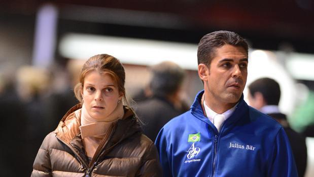 Athina Onassis junto a su ex marido Doda
