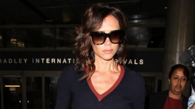 Victoria Beckham, a su llegada al aeropuerto de Los Ángeles