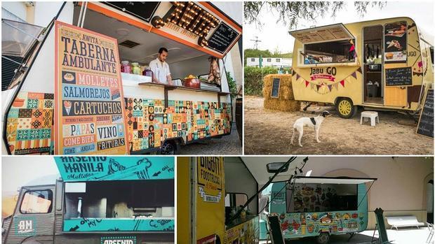 Algunos de los food trucks más populares en la provincia, que ya han participado en Cádiz Street Food.