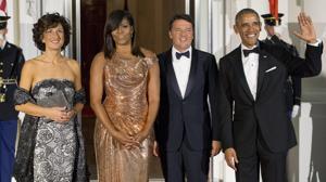 El Versace de Michelle Obama en su última cena de Estado