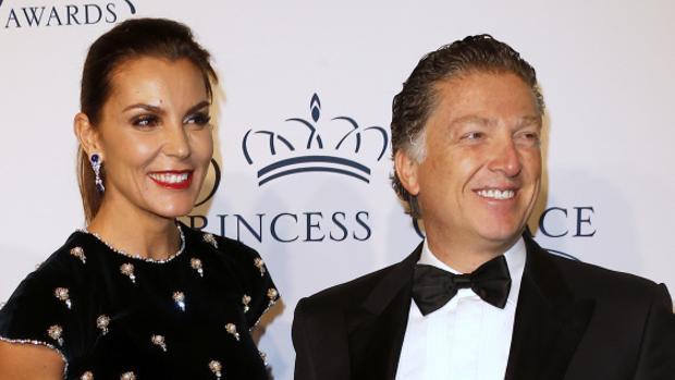 Mar Flores y Elías Sacal, en la gala de los premios de la Fundación Princesa Grace