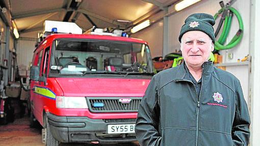 Muir como bombero