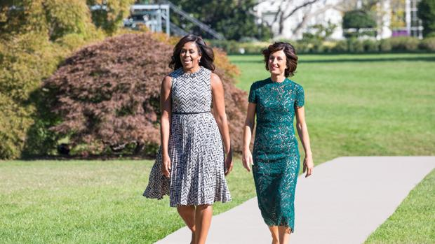 Michelle Obama y Agnese Landini, en octubre