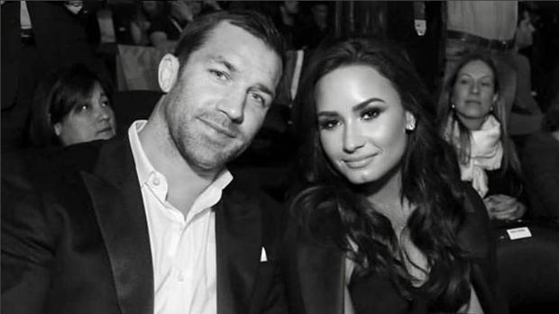 Demi Lovato y su novio Luke Rockhold