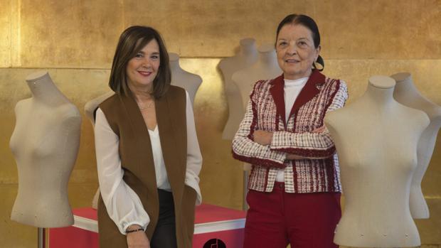 Charo Izquierdo, nueva directora de la pasarela, junto a Cuca Solana