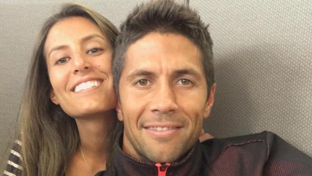 La pareja en una cómplice imagen compartida por Ana en las redes sociales