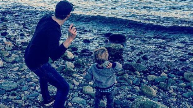 Michael Bublé, junto a su hijo Noah