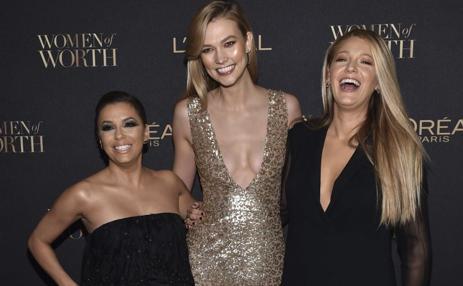 Blake Lively, Eva Longoria y Karlie Kloss