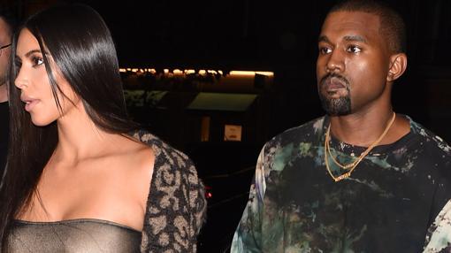 La pareja antes del robo de Kardashian