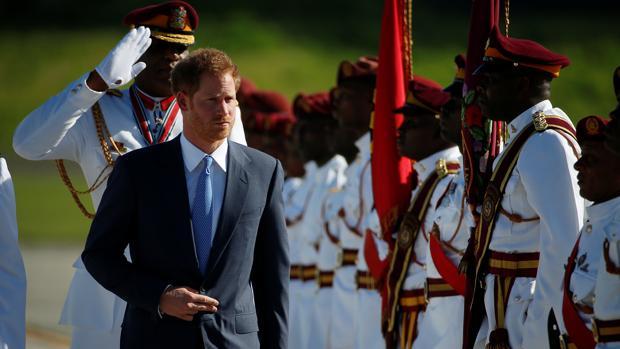 Una de las paradas del príncipe Enrique durante su viaje por el Caribe