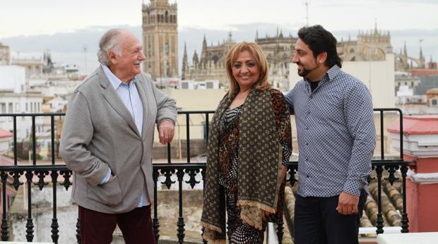 Ricardo Pachón, Dolores Montoya «La Chispa» y Luis, el hijo mayor de Camarón