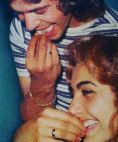 La Chispa y Camarón, en una imagen de su álbum familiar