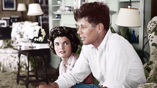 La primera dama junto a su marido