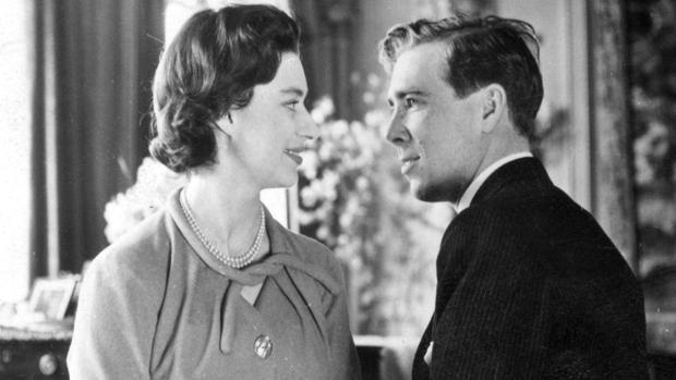 La Princesa Margarita y su marido, en 1960