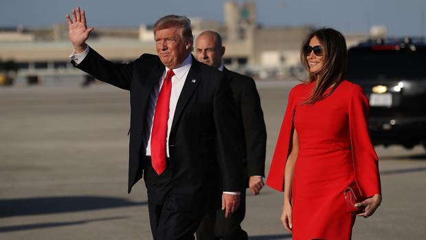 Donald Trump y su mujer Melania