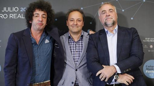 Rafael Casillas, Narcís Rebollo y Marcos Calvo en la presentacion del universal music festival