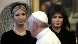 La hija de Donald Trump y la primera dama de estados Unidos en la audiencia privada con el Papa