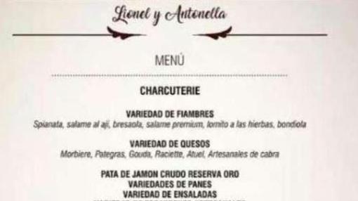Pata de jamón, un clásico ibérico en el menú de la boda del jugador