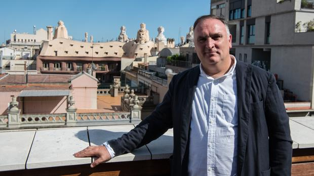 El cocinero José Andrés posa para ABC en Barcelona