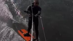 Video en el que Felipe de Bélgica sale haciendo «kitesurf»