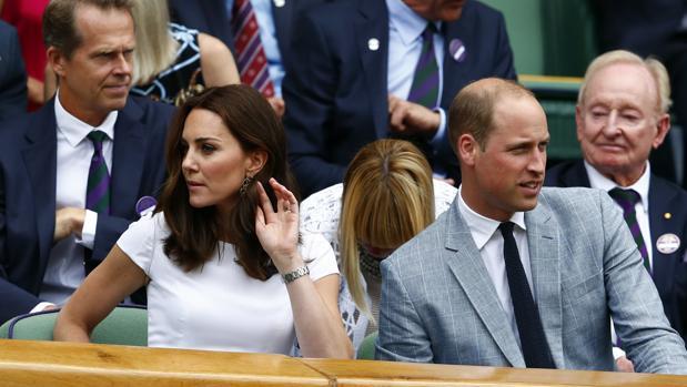 Los Duques de Cambridge disfrutando del partido de tenis