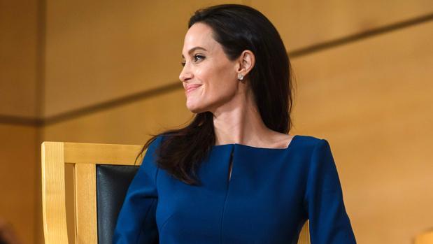 Angelina Jolie durante una intervención en Génova como enviada especial de las Naciones Unidas