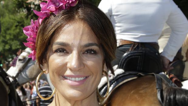 Raquel Bollo durante la Romería del Rocío 2017