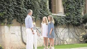 Los Reyes junto a la Princesa Leonor y la Infanta Sofía, el pasado lunes