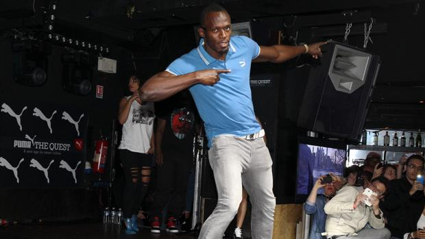 Usain Bolt en una discoteca