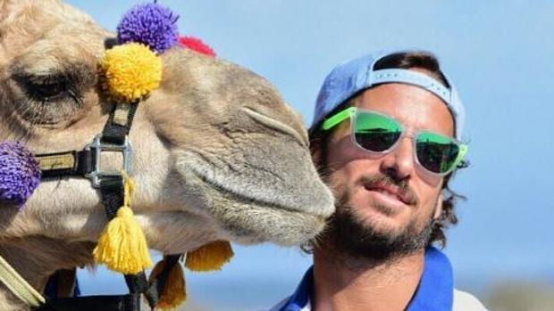 Feliciano López con el camello