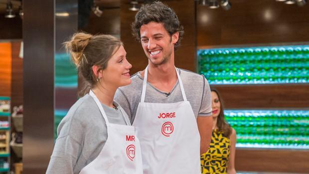 Jorge y Miri en uno de los programas