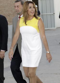 La presidenta de la Junta mostro ayer una figura más estilizada