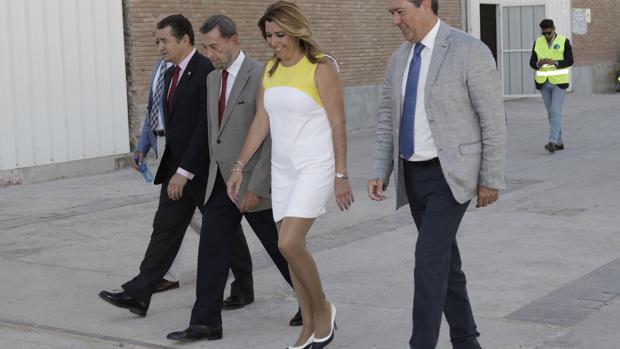 Susana Díaz, ayer en el puerto de Sevilla