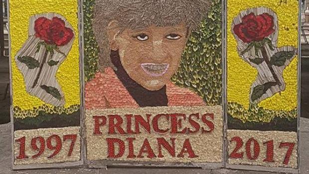 El tributo floral dedicado a Diana de Gales