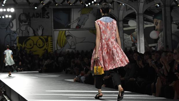 Un momento del desfile de Prada en la Semana de la Moda de Milán