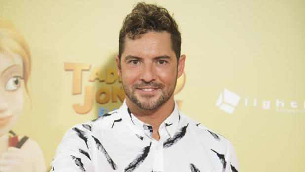 David Bisbal durante la premiere de la película de «Tadeo Jones»