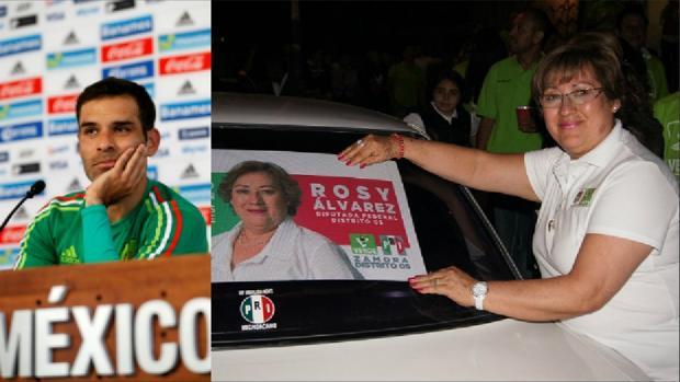 Sobre estas líneas, Rafa Marquez y su madre, Rosa Alicia Álvarez Piñones