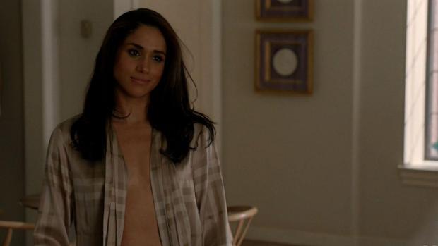 Meghan Markle en una de las escenas de la serie que protagoniza, «Suits»