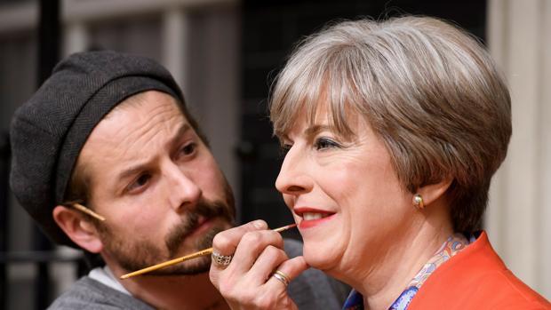 La figura de cera de Theresa May
